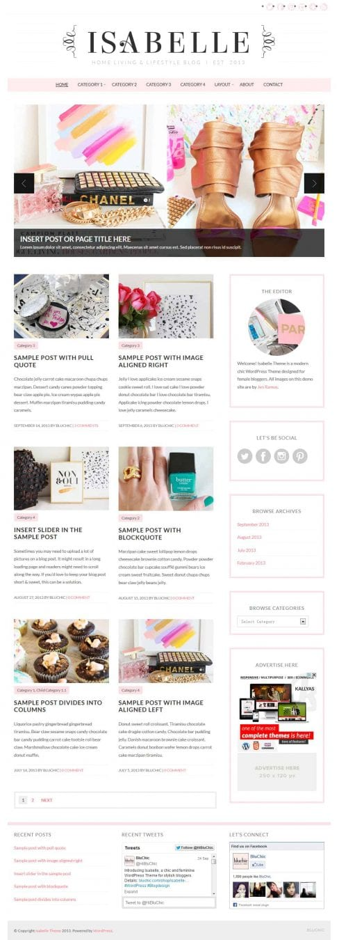 8 Feminine WordPress Themes - Chic, Stylish WordPress theme