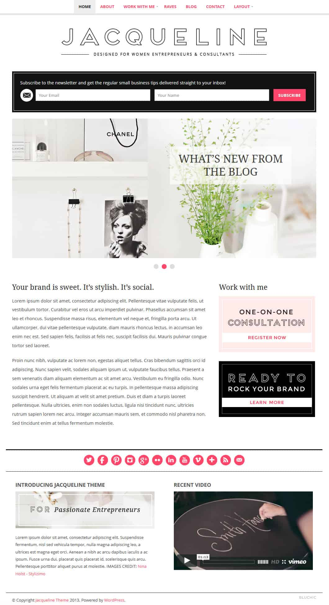 8 Feminine WordPress themes - Chic WordPress Themes