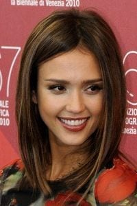 Jessica Alba with Sleek Long Bob Hair Style