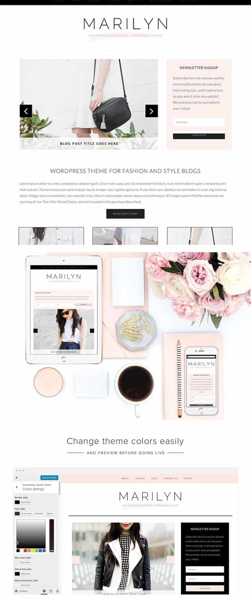 best WordPress themes for fashion, beauty and lifestyle bloggers