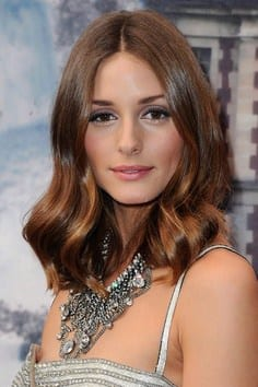 Oliva Palermo with wavy long bob hair style