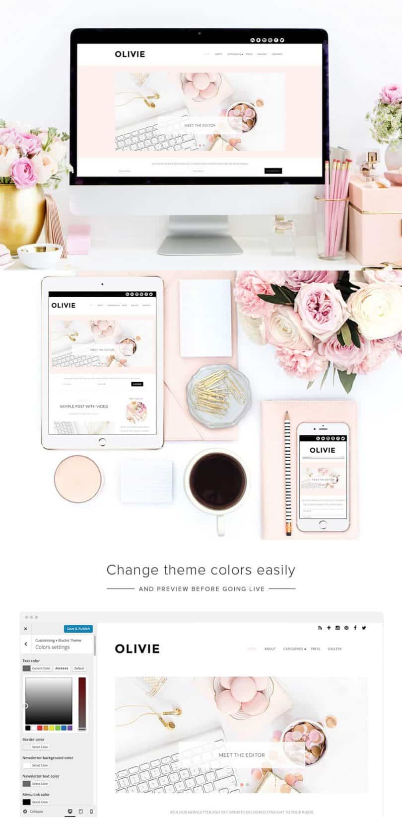 Best WordPress themes for Fashion and Beauty Bloggers