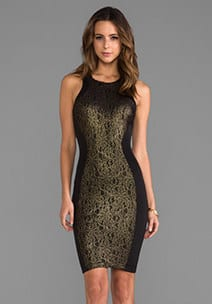Dresses over $200 - Gold and Black Dress Revolve