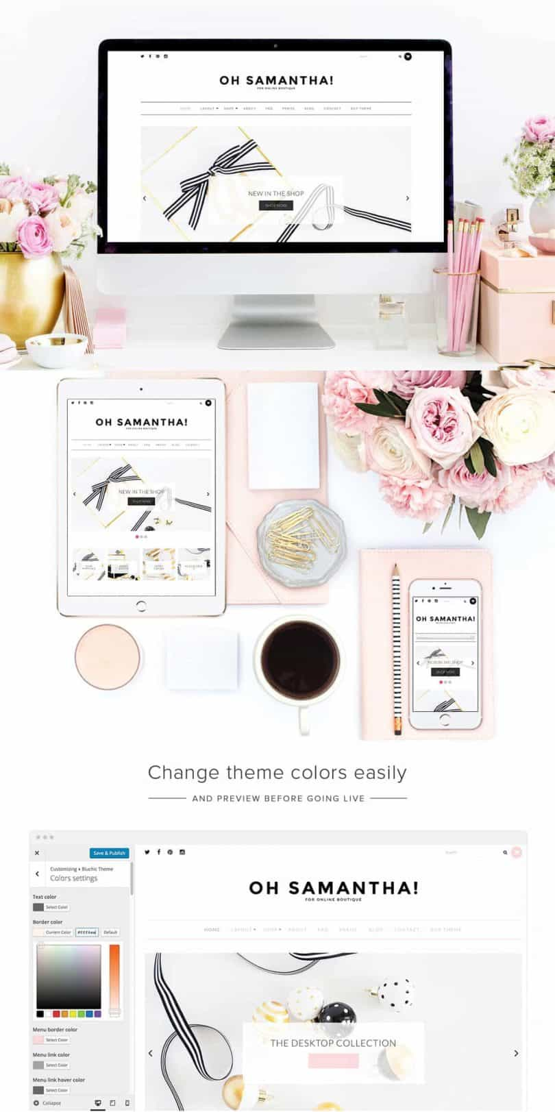 Minimal WordPress theme for bloggers, #girlbosses, and websites