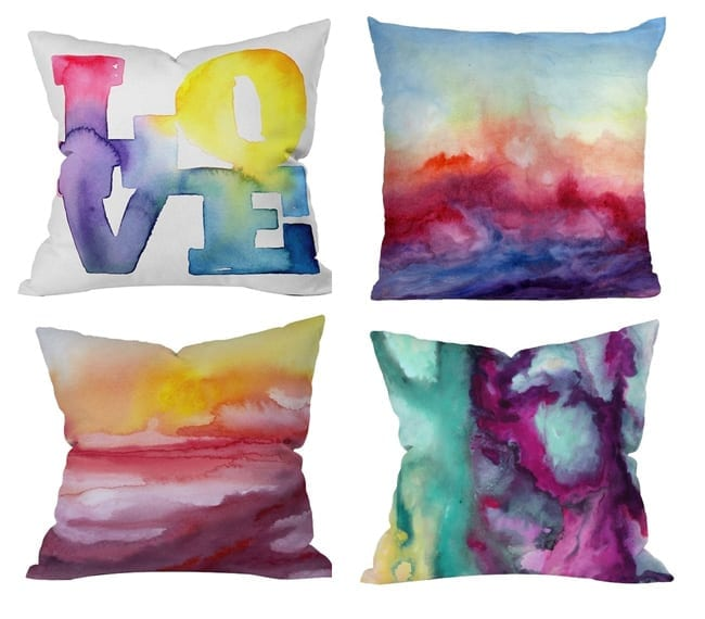 25 Creative Sharpie Crafts & Ideas - Tie Dye Pillows