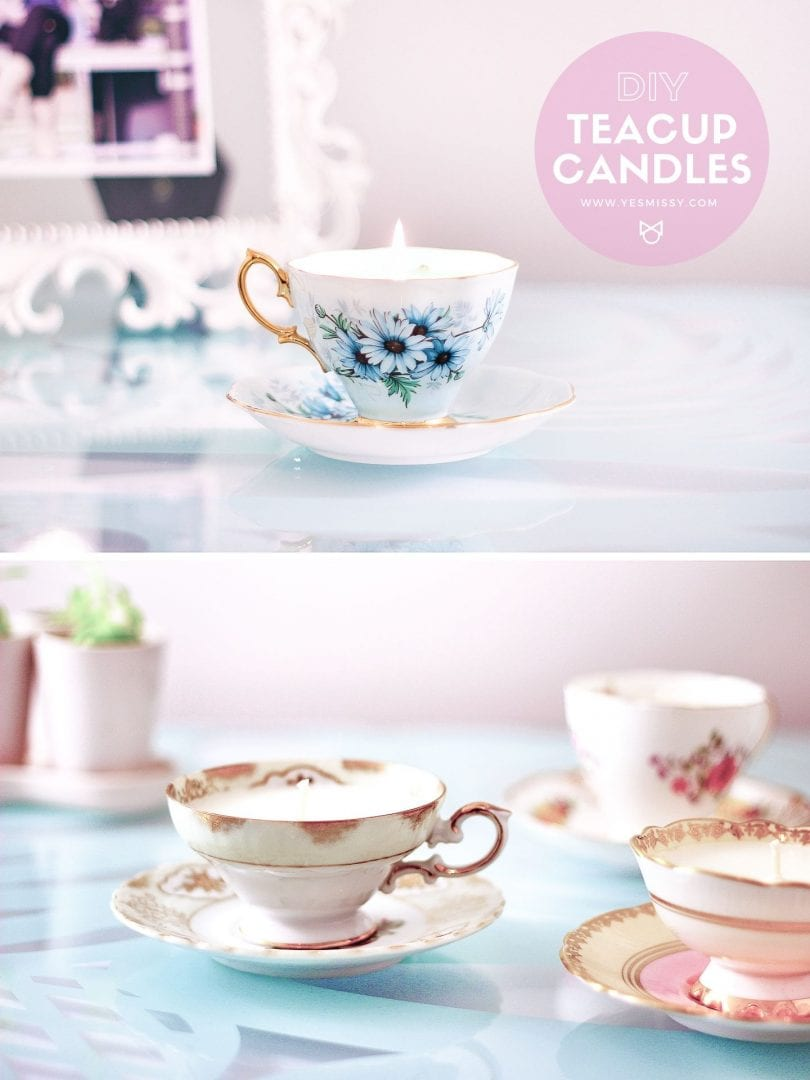 Follow this easy, step-by-step  tutorial to learn how to make candles out of your old teacups