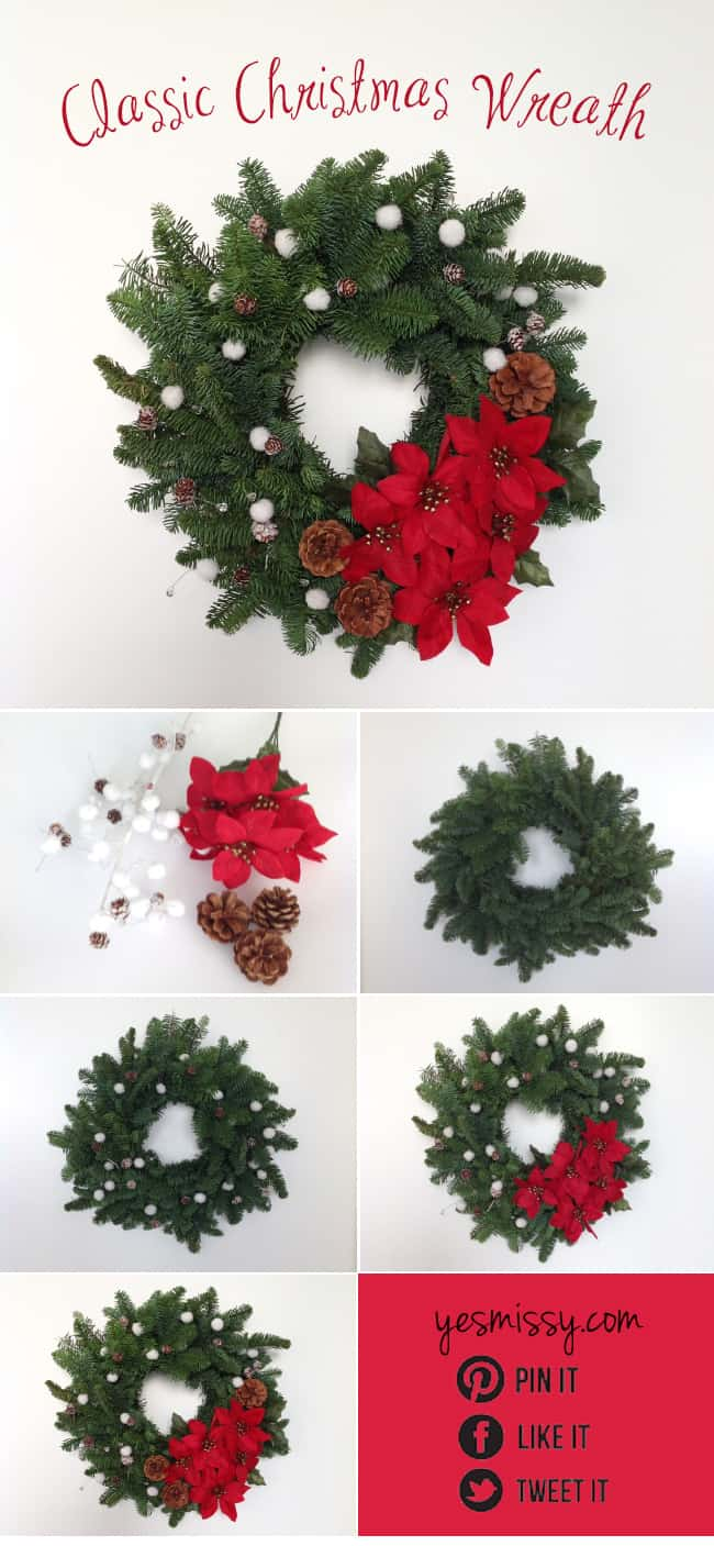 Christmas Wreath Ideas - Classic Wreath