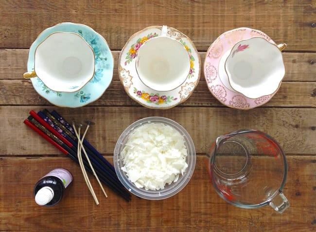 DIY Teacup Candle - Supplies