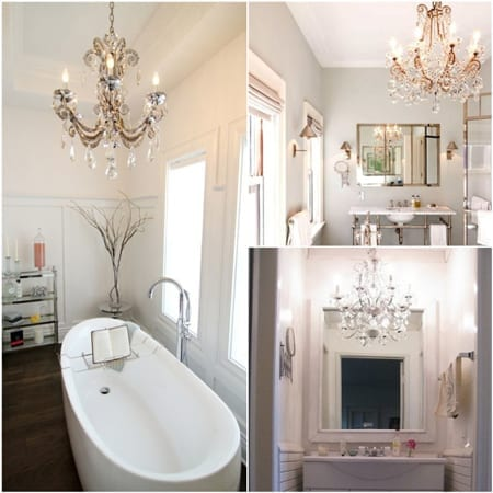 Chandeliers in the Bathroom