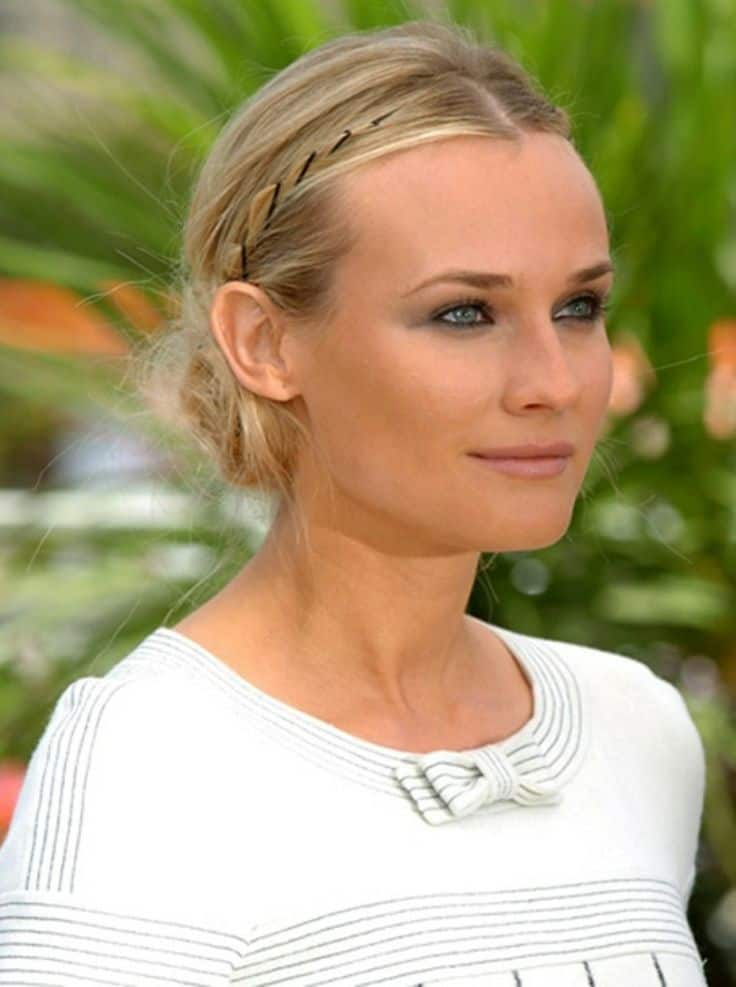 Diane Kruger - Hairstyles with bobby pins