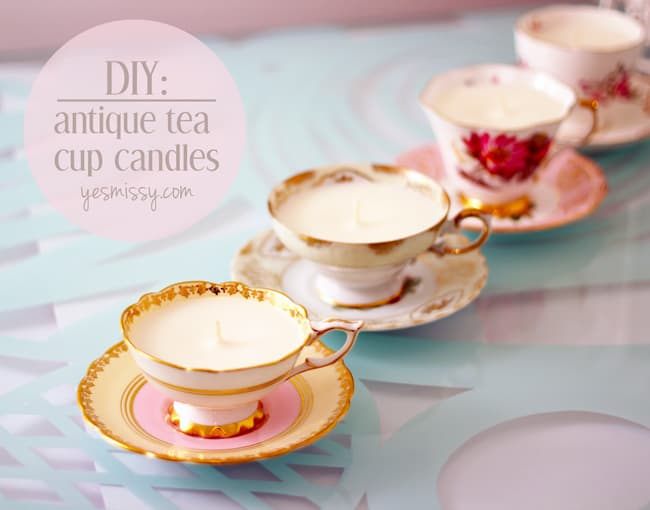 DIY Teacup Candles Tutorial