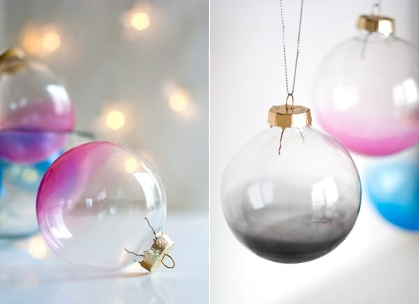 DIY Ombre Christmas Ornaments