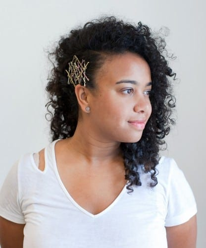 Side bobby pin hairstyle