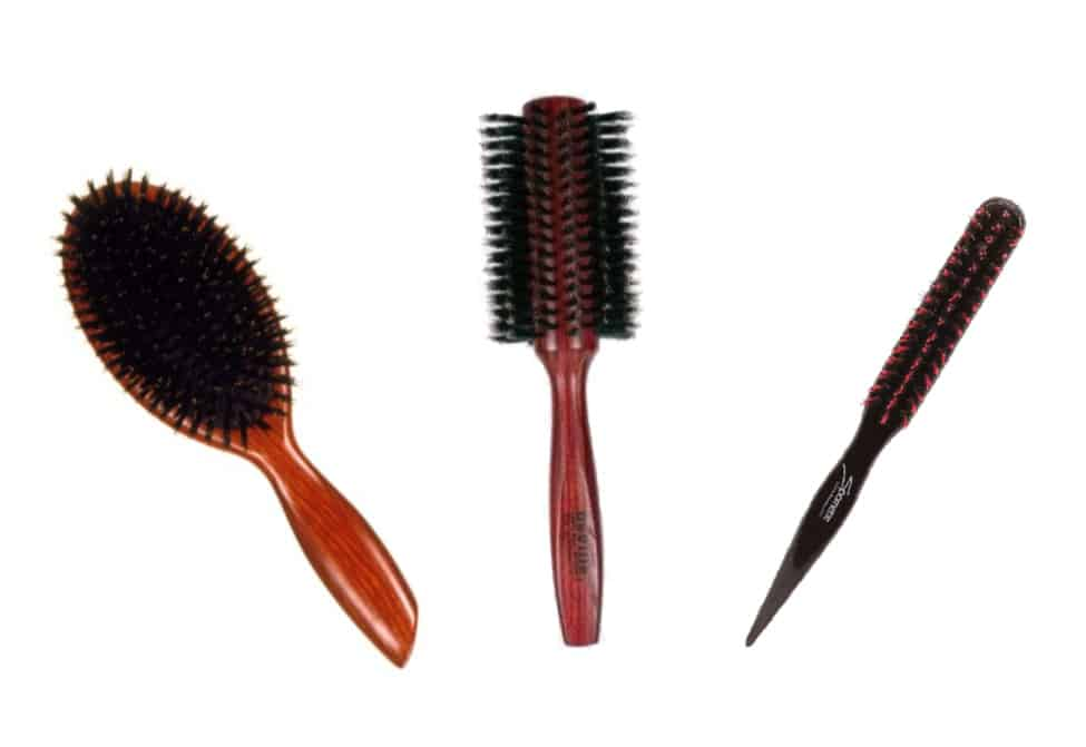 Benefits of Boar Bristle Brushes - 3 Brushes with different functions
