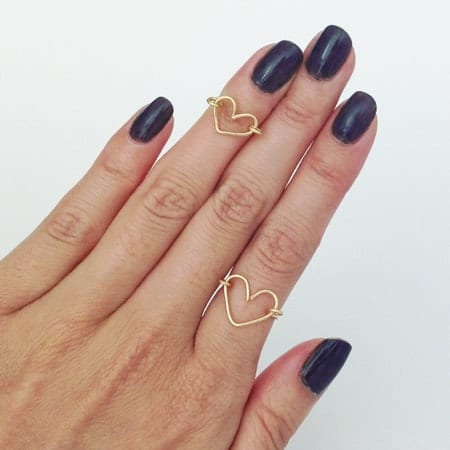 DIY wire heart ring tutorial