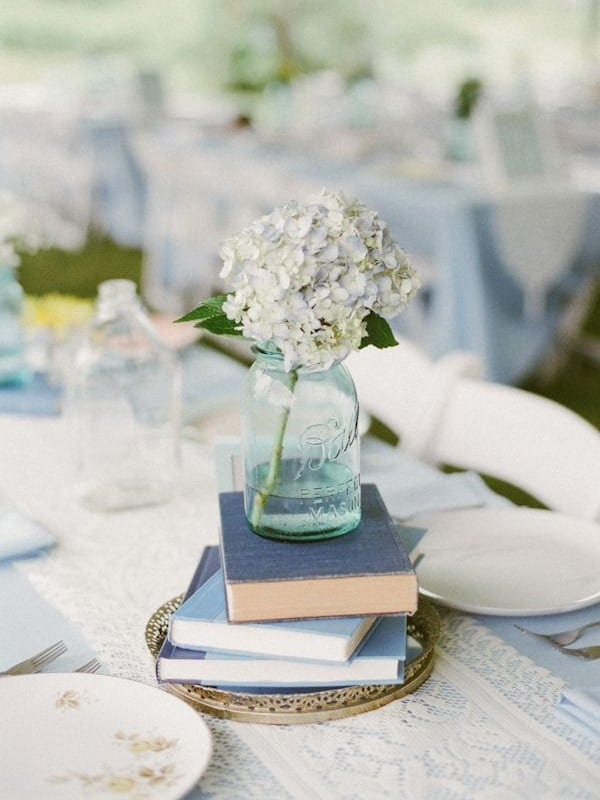 Book Centerpieces - Wedding Inspiration