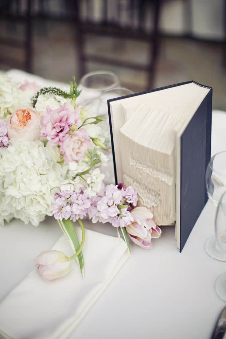 wedding decor inspiration antique book centerpieces