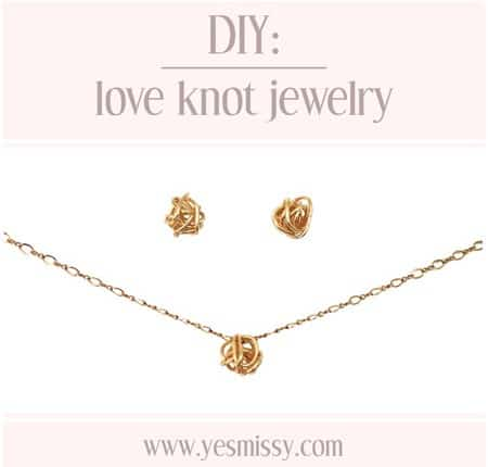 DIY love knot jewelry tutorial