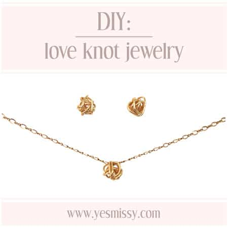 DIY Love Knot Earrings & Pendant Tutorial