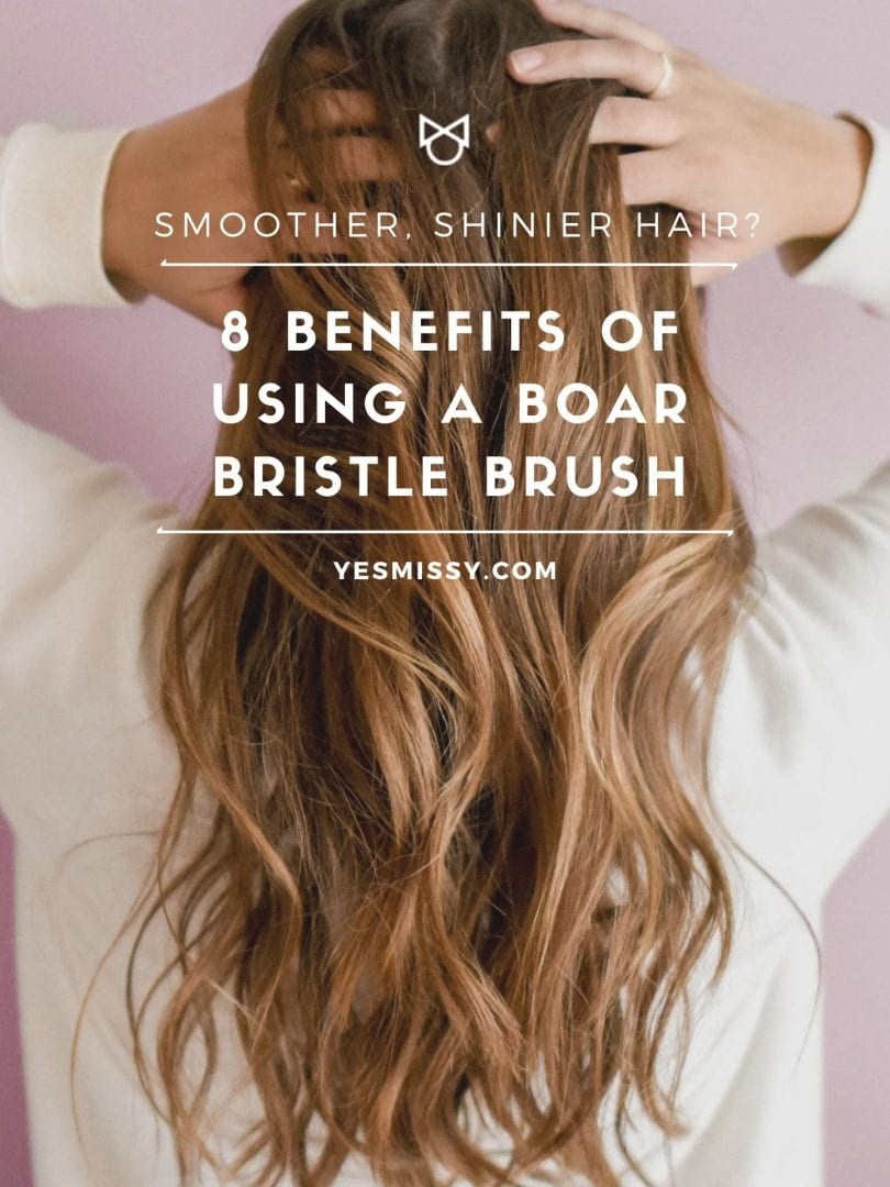 Smoother shinier hair is just one of the benefits of boar bristle brushes. Check out the post for more.. yesmissy.com