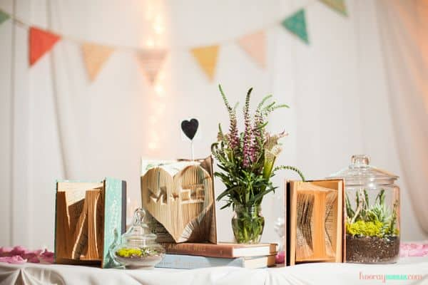 DIY Centrepieces - DIY Folded books