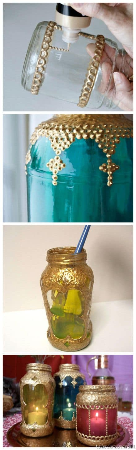 20 decorative mason jar ideas - mason jar lanterns