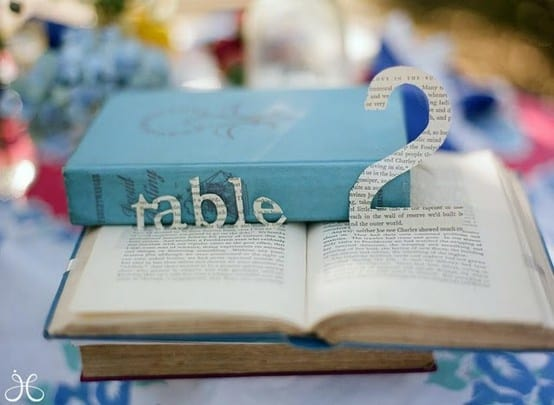 DIY Wedding ideas - pop up book numbers