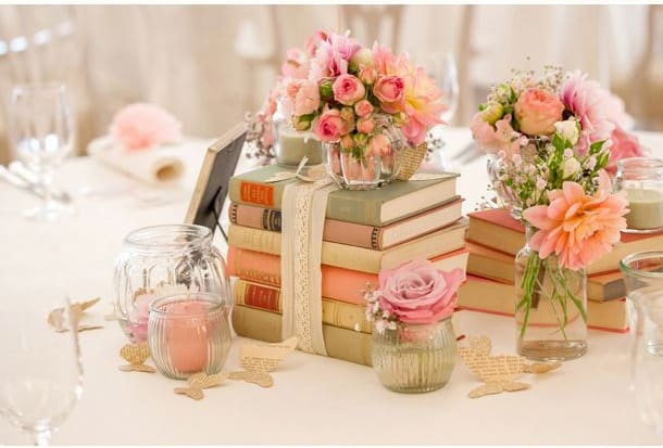 DIY Book Center pieces