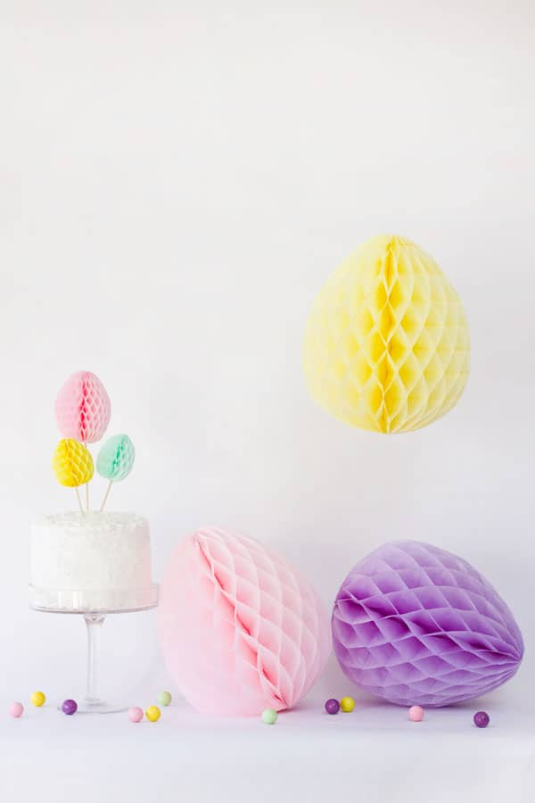 Quickly and easily turn honeycomb decor into Easter eggs this weekend!