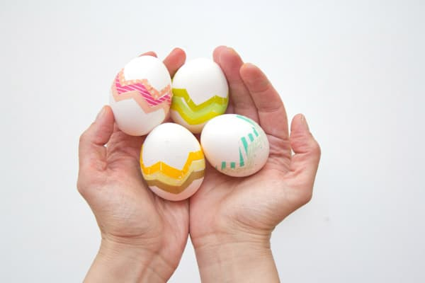 A little washi tape goes a long way on some sweet Easter eggs!