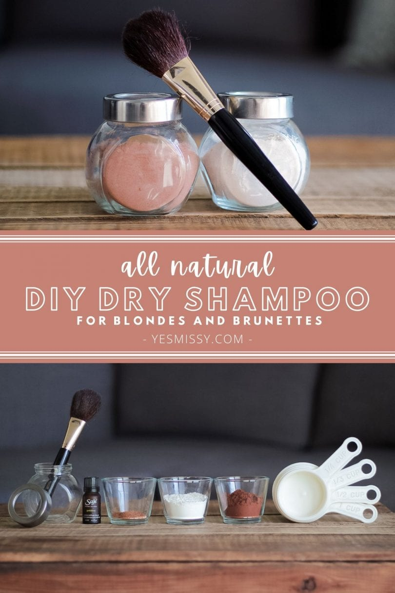 All natural DIY Dry Shampoo Recipes for Light and Dark Hair - made from ingredients you already have in your kitchen!