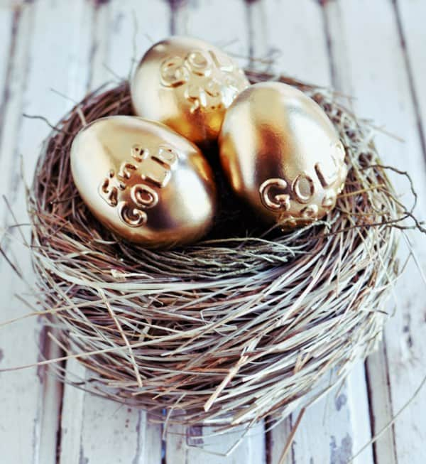No need for a goose to lay these golden eggs. Make them yourself! DIY instructions included