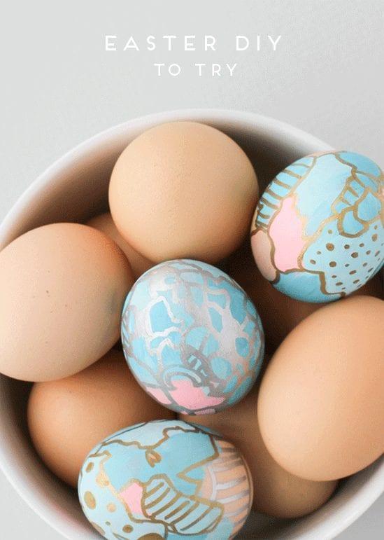 15 Egg Decorating Ideas to Try -  Graffiti Art Easter Eggs