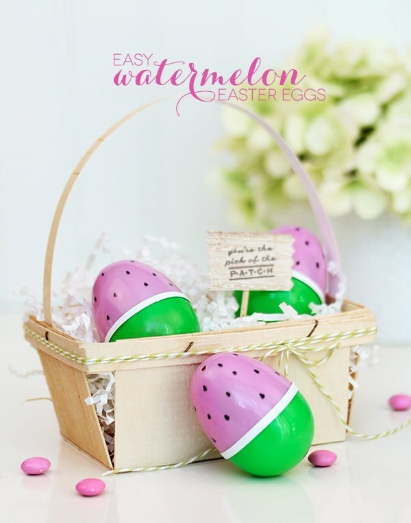 Watermelon Easter Eggs DIY