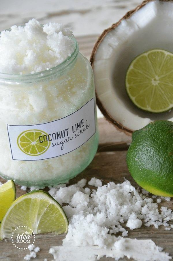 DIY Mother's Day Gift Ideas - Coconut Lime Sugar Scrub
