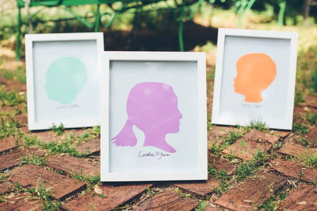 DIY Framed Silhouettes