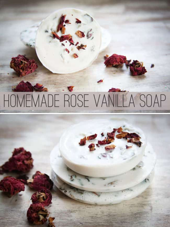 Homemade vanilla and rose soap tutorial