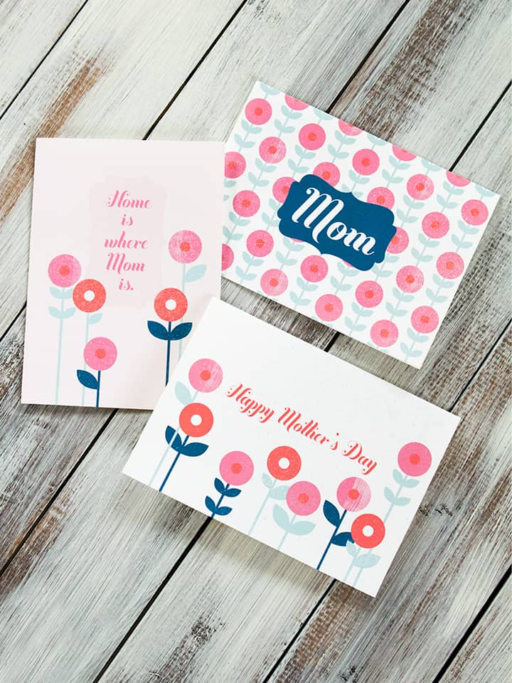Homemade Mothers Day Gifts - FREE DIY Printable cards!