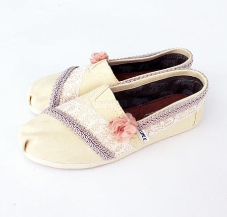 DIY Toms - transform your everyday slip-ons into a fun and romantic pair of dress shoes you can wear to any special event!