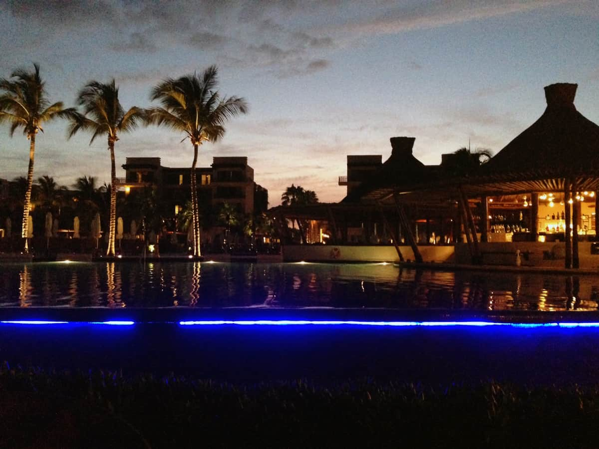 Mexico Photo Diary: Night time at the resort