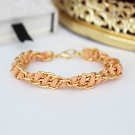 DIY Spiral Chain Bracelet Tutorial