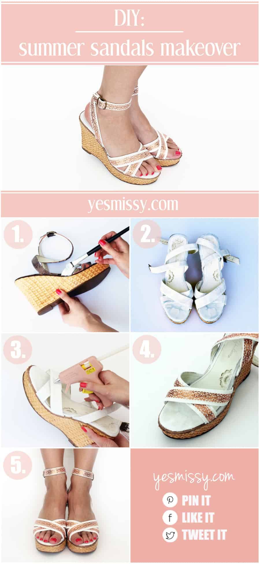 DIY Summer Sandals Makeover