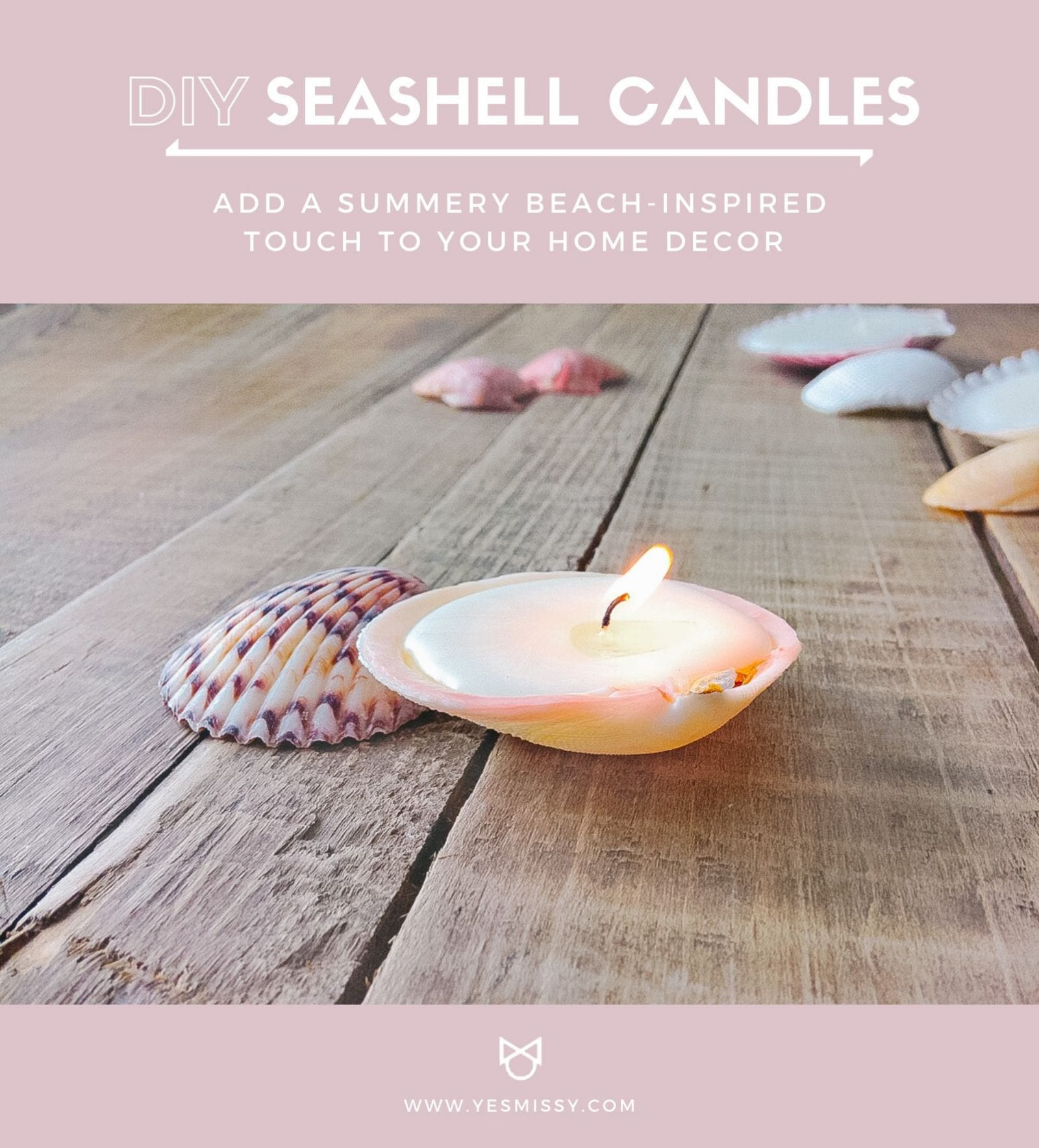 Add a summery touch to your home with these easy DIY seashell candles!