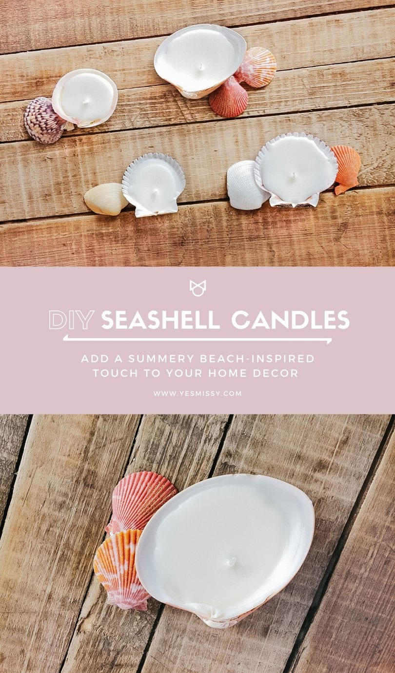These DIY seashell candles are an easy summer DIY decor idea for your home. They're simple to make and add a great beachy feel to your home.