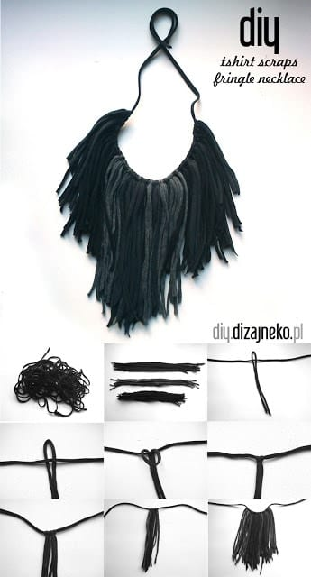 DIY: Make this fun fringed tshirt necklace - perfect for festival season!