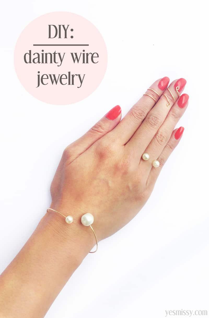 3 fashionable wire jewelry tutorials