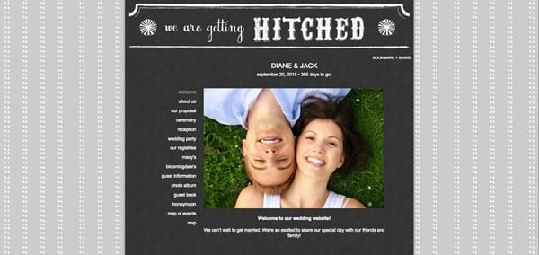 Example Wedding Website From The Knot
