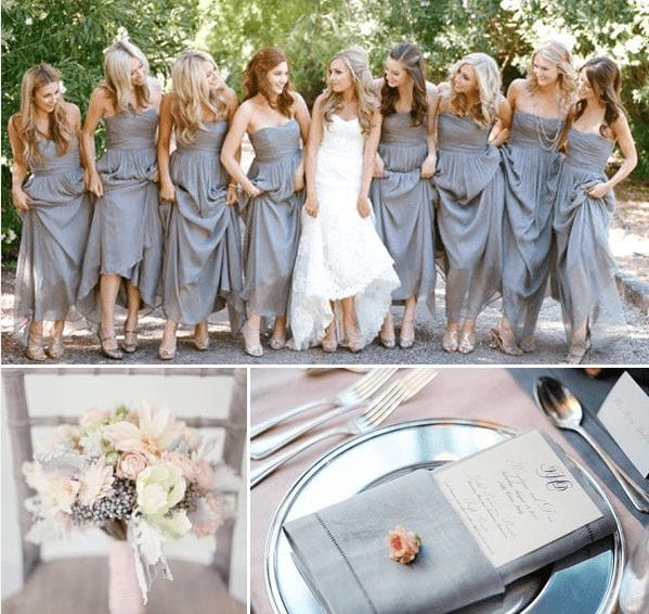 Choosing wedding colors & Wedding colors inspiration - grey