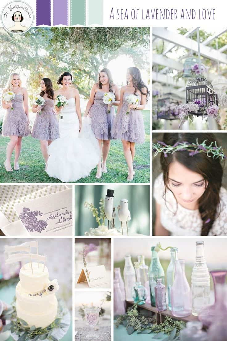 Choosing wedding colors - Wedding colors inspiration - lavender and mossy green