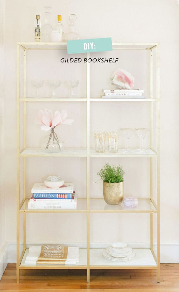 Chic Ikea Hacks - These gold and marble shelves are so gorgeous, you wouldn't believe they're from Ikea
